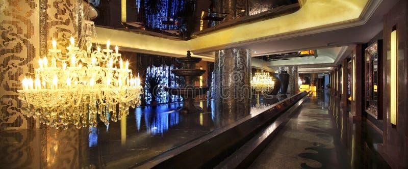 Der Korridor des Hotels lizenzfreies stockfoto