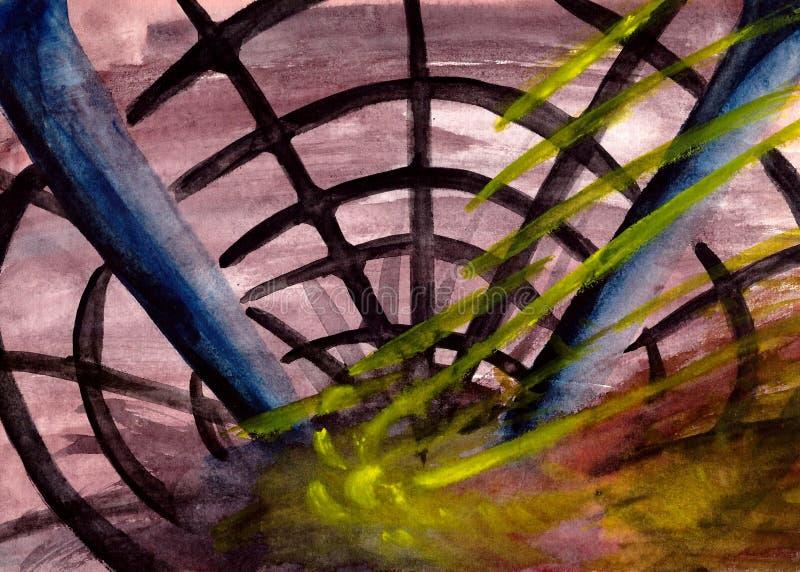 Der kosmische Netzstrahl vektor abbildung