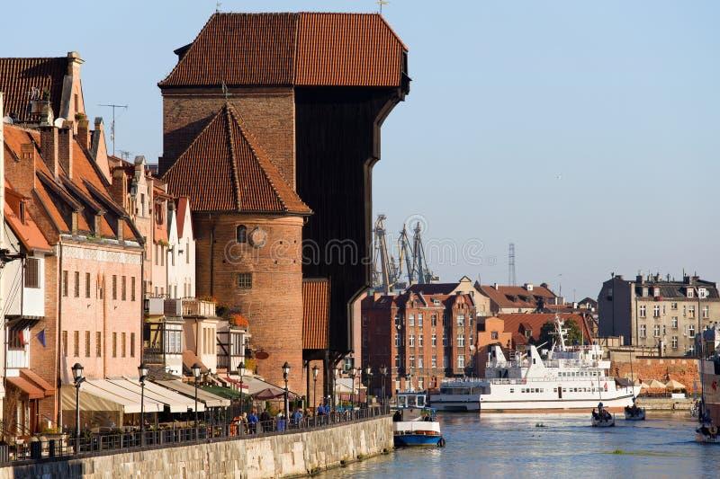 Der Kran in Gdansk lizenzfreie stockbilder