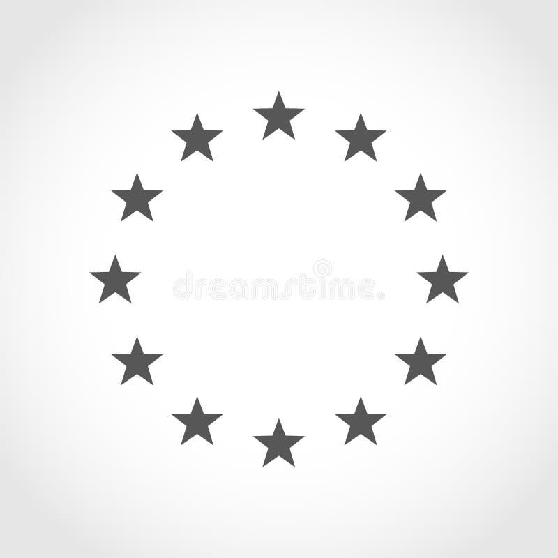 Der Kranz von Sternen von EU Auch im corel abgehobenen Betrag lizenzfreie abbildung