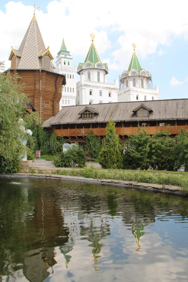 Der Kreml in Izmailovo stockfotos