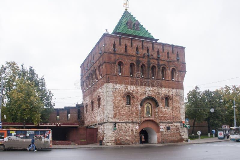 Der Kreml in Nischni Nowgorod, Russische Föderation lizenzfreies stockfoto
