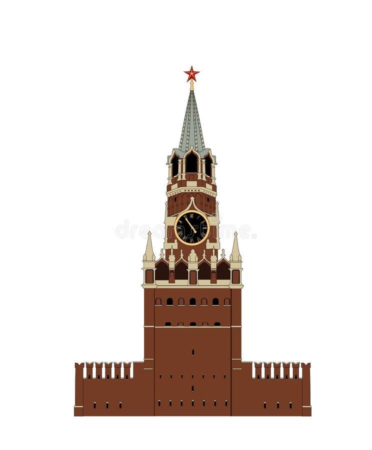 Der Kreml-Turm lizenzfreie abbildung