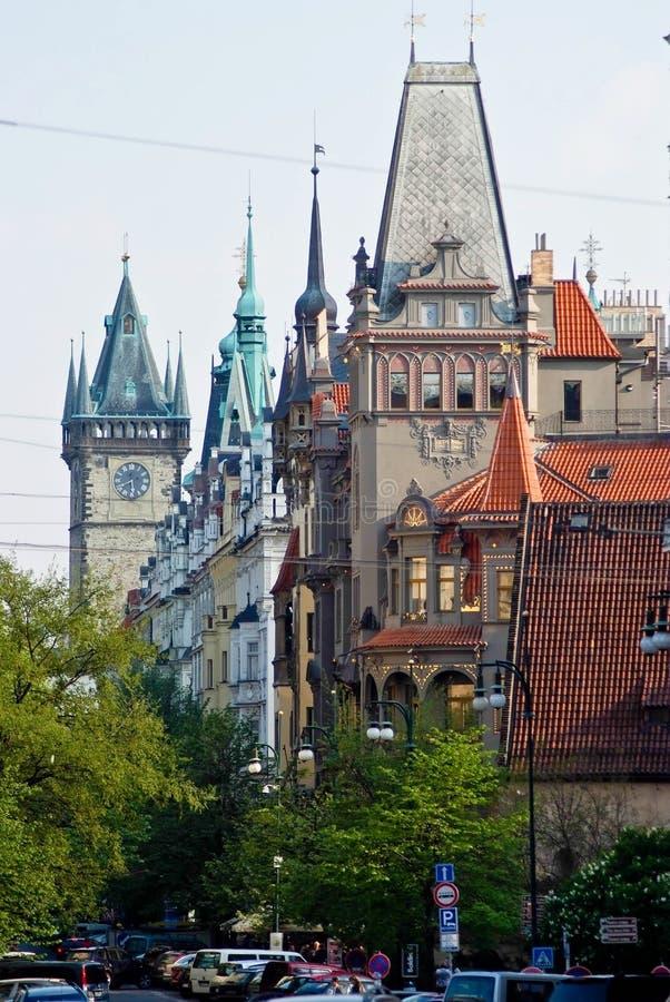 Der Kremlin wird im Fluss reflektiert Prag, Tschechische Republik stockfoto