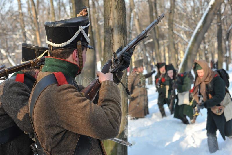 Der Krieg von 1812 Winterkampagne lizenzfreie stockfotos