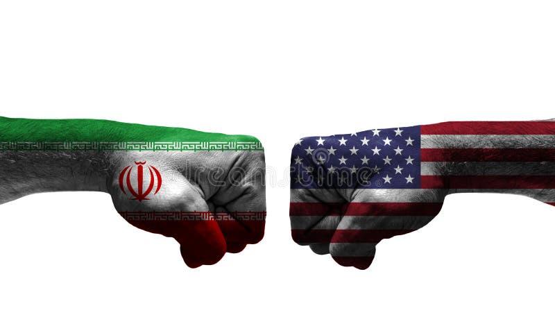 Der Krieg zwischen 2 Ländern stockbild