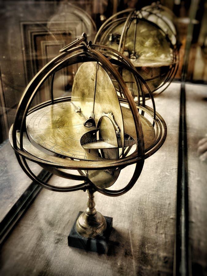 Der kugelförmige Astrolabe stockfoto