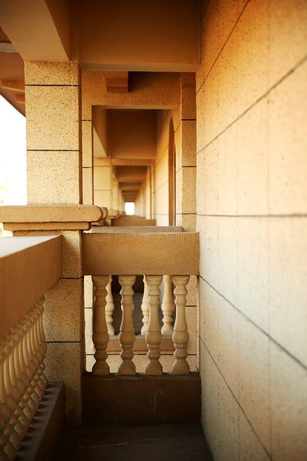 Der lange Korridor stockfotos