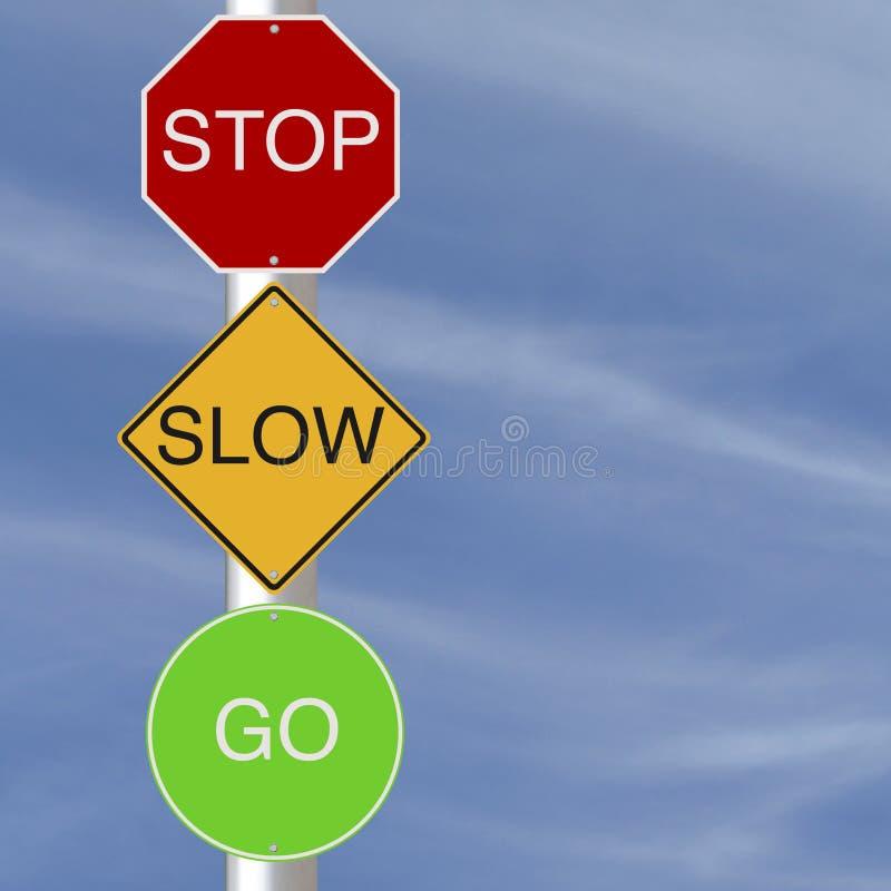 Der langsame Halt gehen stockfoto