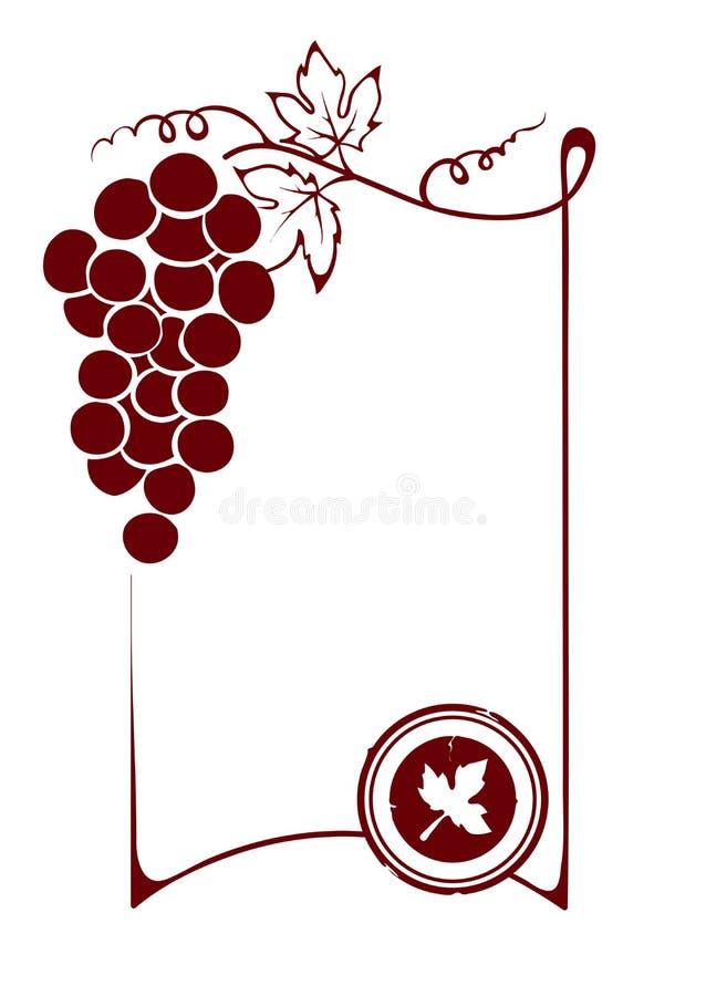 Der leere Weinaufkleber stock abbildung