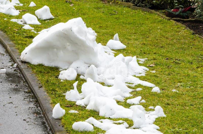 Der letzte Schnee stockfoto