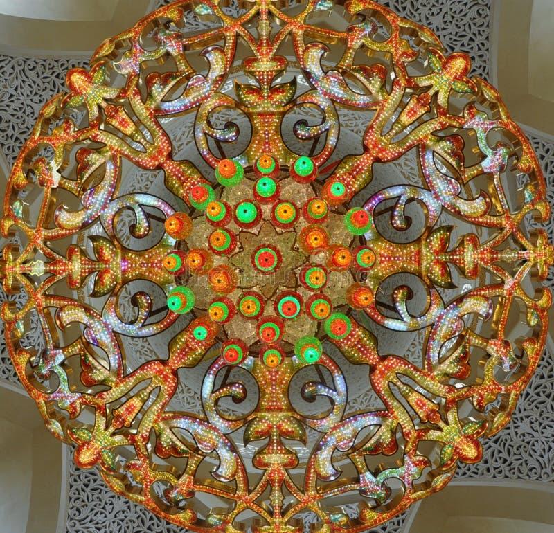 Der Leuchter der Moschee stockfoto