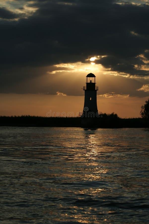 Der Leuchtturm arbeitet noch einmal lizenzfreies stockbild