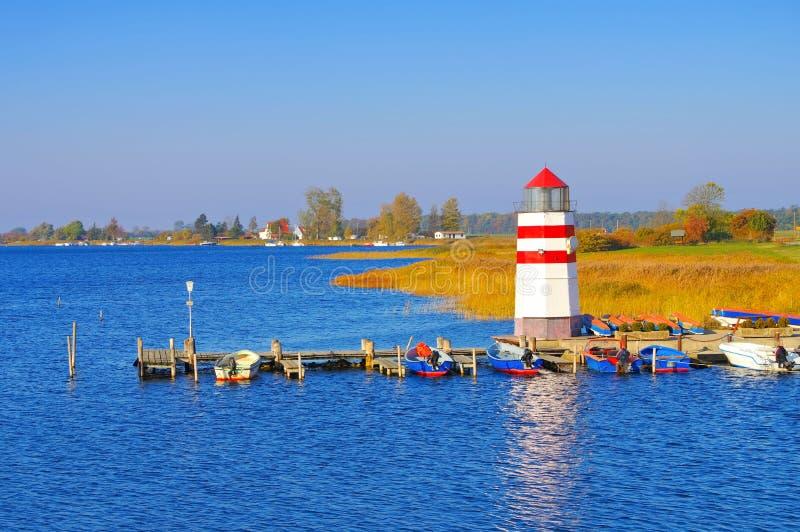 Der Leuchtturm auf der Insel Ummanz, Rügen stockfoto