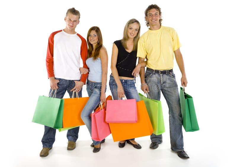In der Liebe und auf dem Einkaufen stockfoto