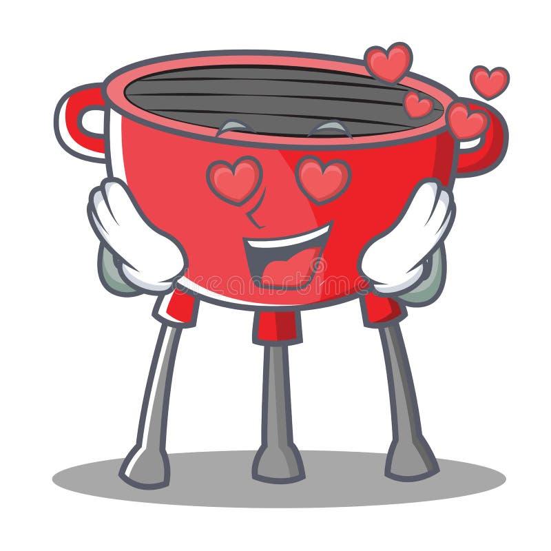 In der Liebes-Grill-Grill-Zeichentrickfilm-Figur stock abbildung