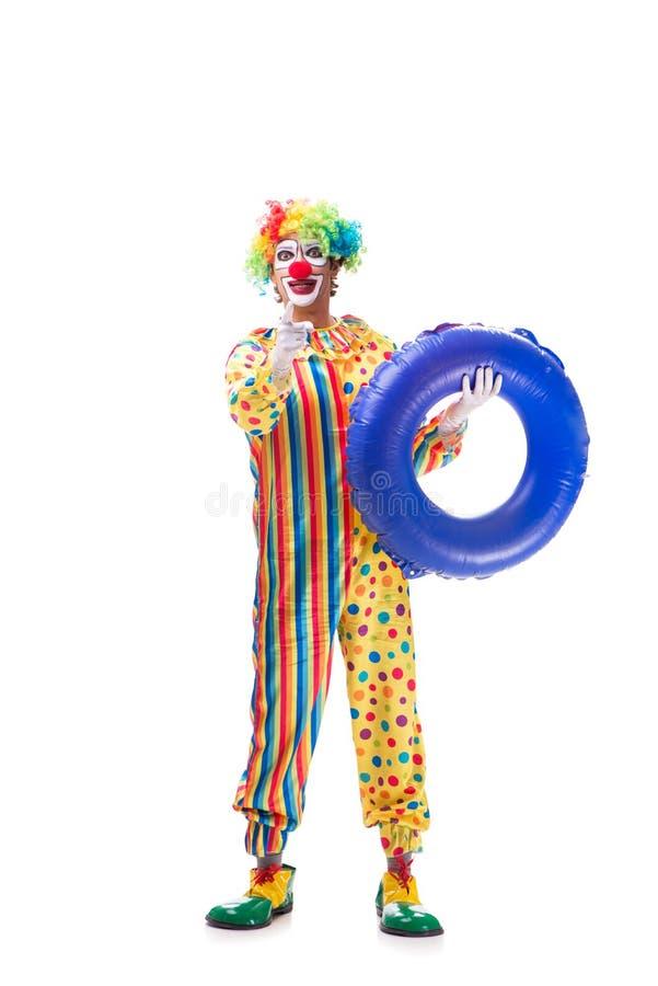 Der lustige Clown lokalisiert auf weißem Hintergrund lizenzfreie stockbilder