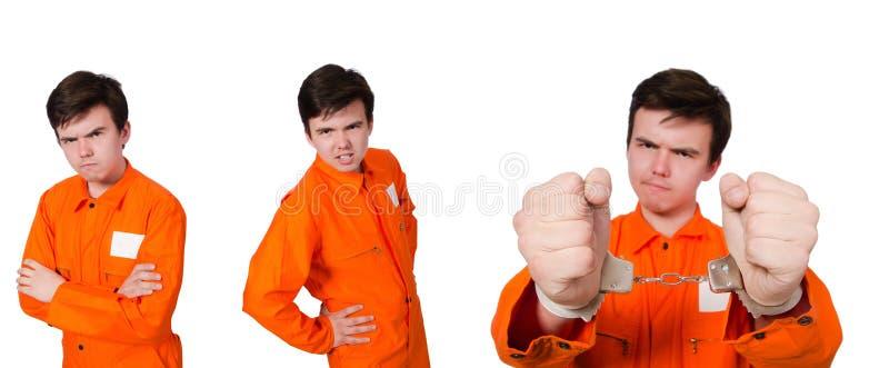 Der lustige Gefängnisinsasse im Konzept lizenzfreies stockbild