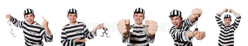 Der lustige Gefängnisinsasse im Konzept stockfotos