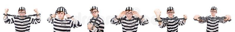Der lustige Gefängnisinsasse im Konzept lizenzfreies stockfoto