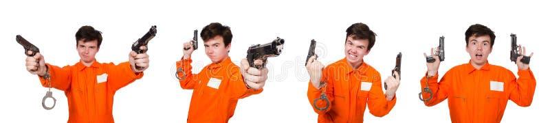 Der lustige Gefängnisinsasse im Konzept lizenzfreie stockbilder