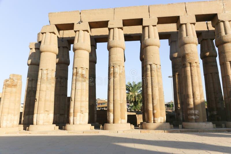 Der Luxor-Tempel - Ägypten stockbild