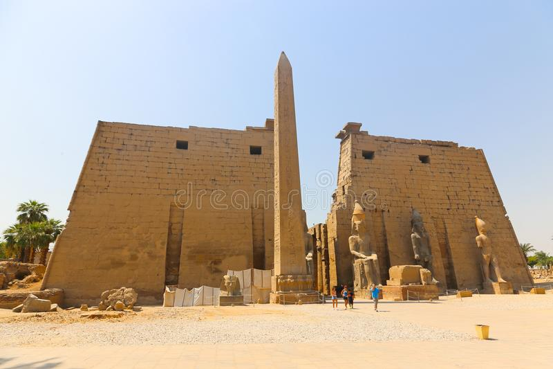 Der Luxor-Tempel - Ägypten lizenzfreie stockfotos