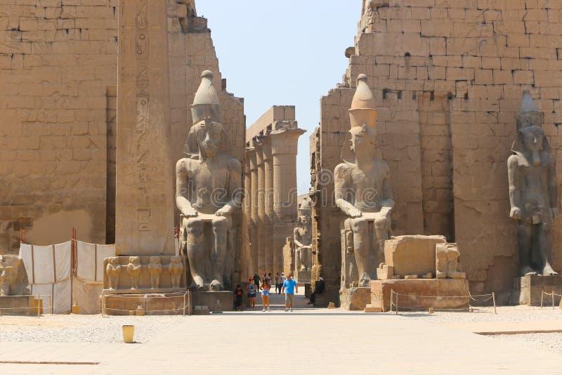 Der Luxor-Tempel - Ägypten stockfoto