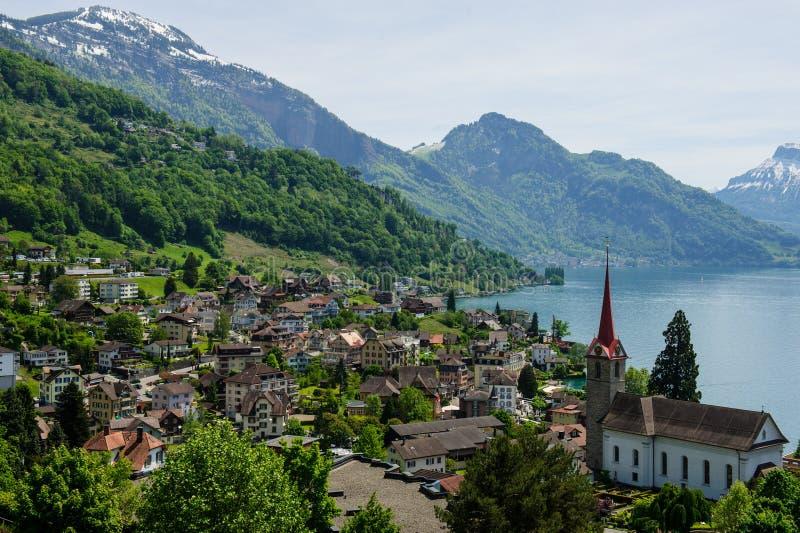 Der Luzerner See lizenzfreies stockfoto