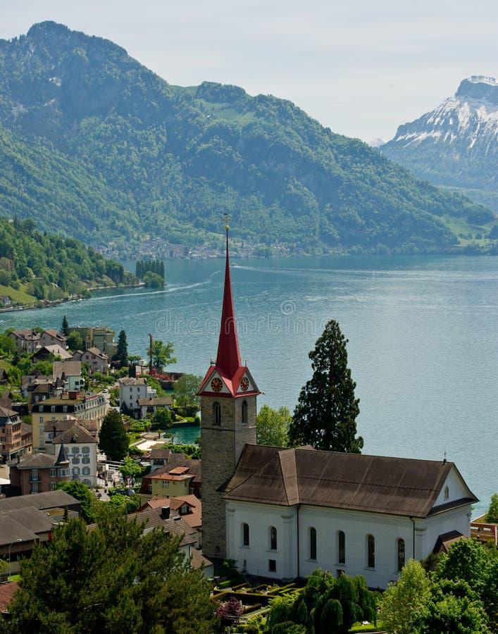 Der Luzerner See lizenzfreie stockbilder