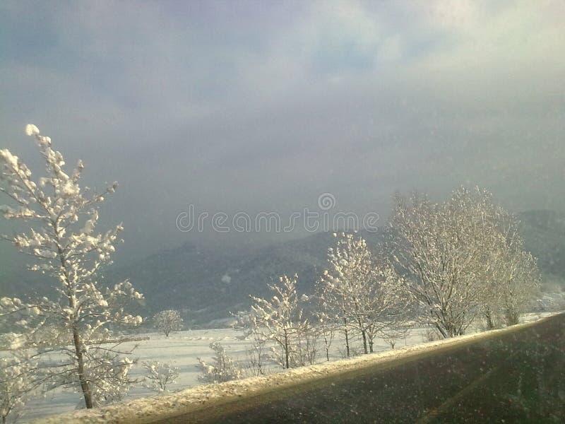 Der magische Winter stockbild