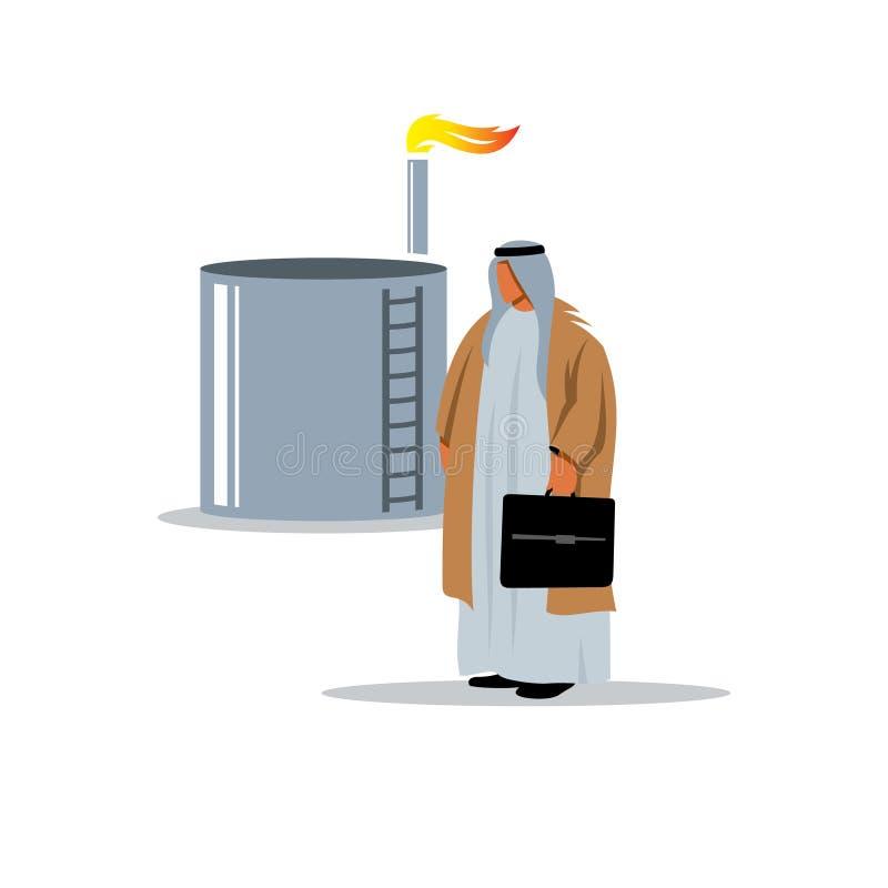 Der Mann in der Öl- und Gasindustrie Auch im corel abgehobenen Betrag vektor abbildung