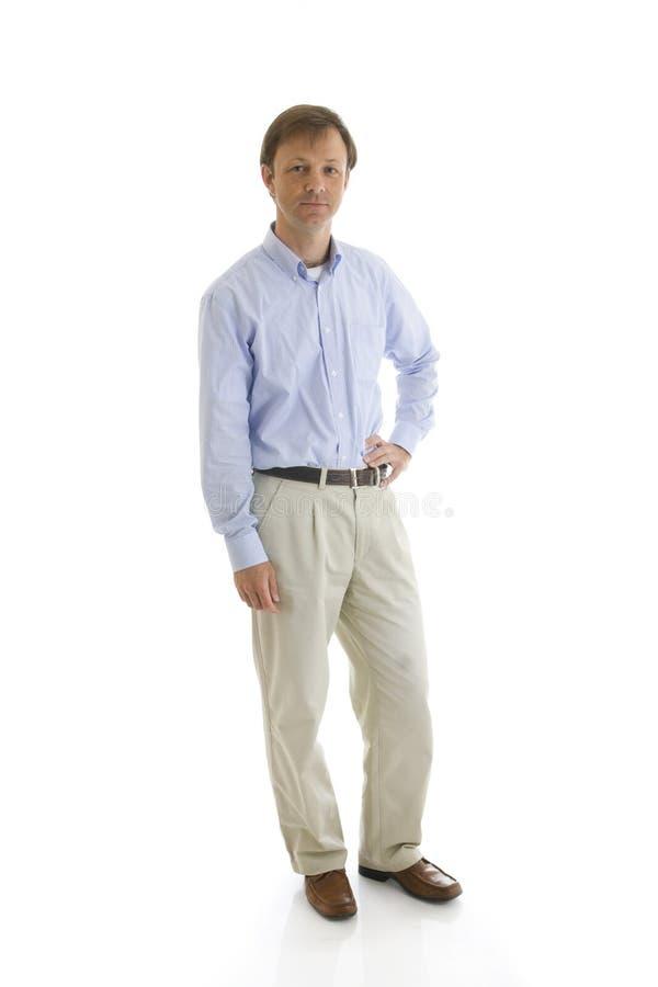 Der Mann getrennt auf einem Weiß stockfotografie