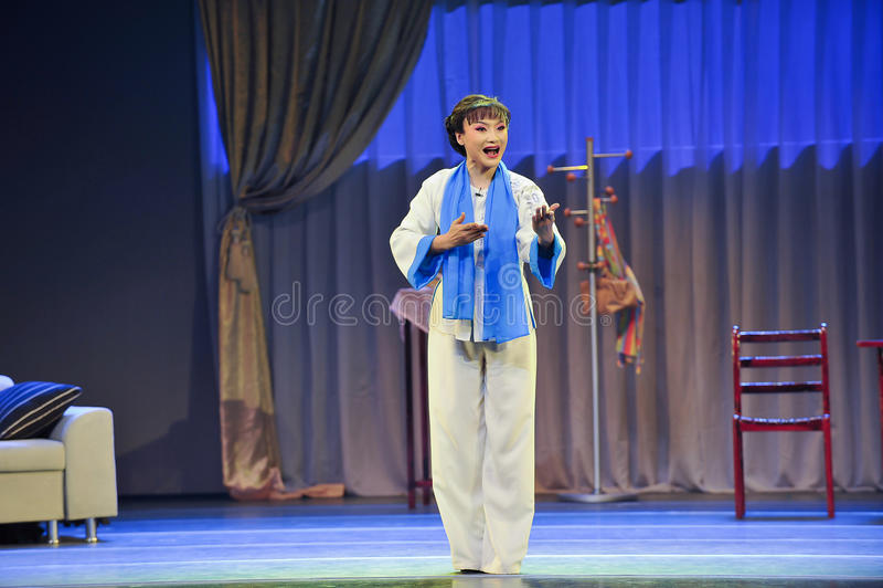 Der Mantel Schauspieler Zahljiangxis OperaBlue stockfoto