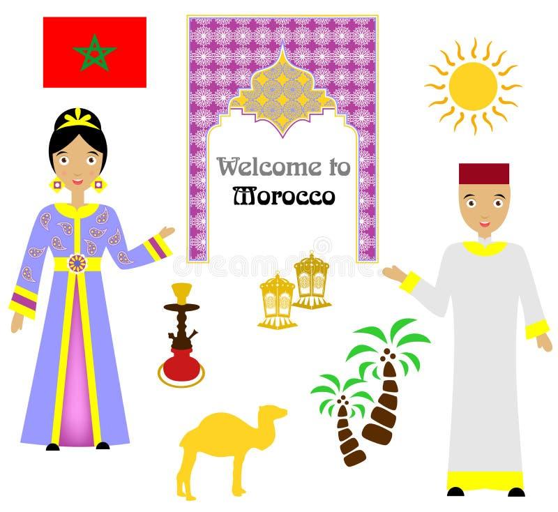 Der Marokko-Satz stockfoto
