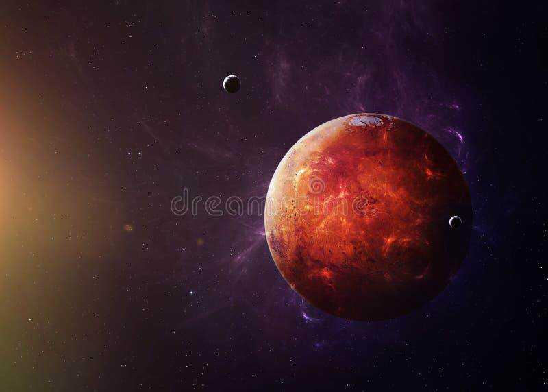 Der Mars vom Raum, der allen sie Schönheit zeigt stockfotos