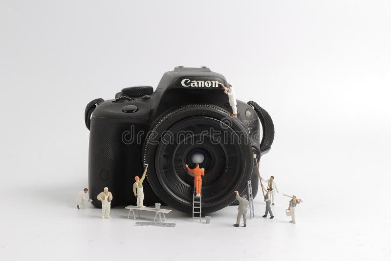 der Mini-woker freie Raum die Kamera lizenzfreie stockfotografie