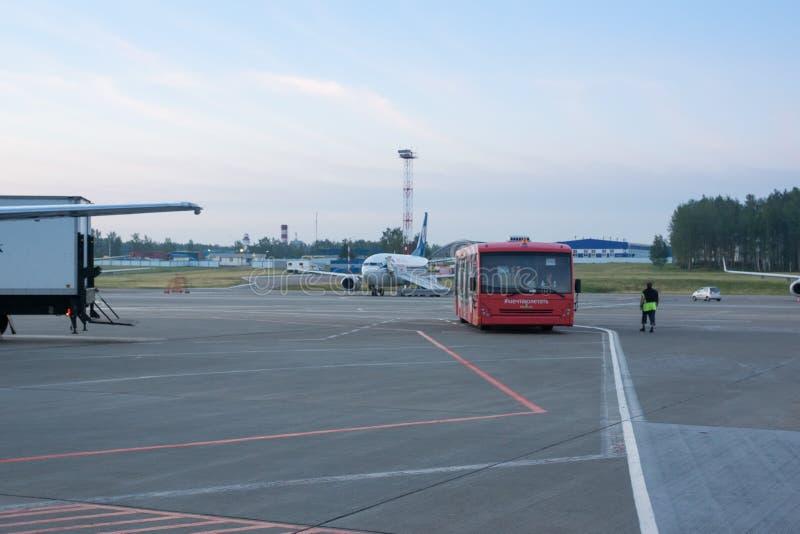 Der Minsk-Flughafen lizenzfreies stockbild