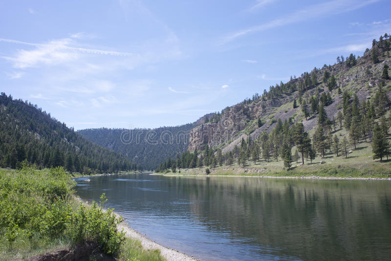 Der Missouri Montana lizenzfreie stockfotos
