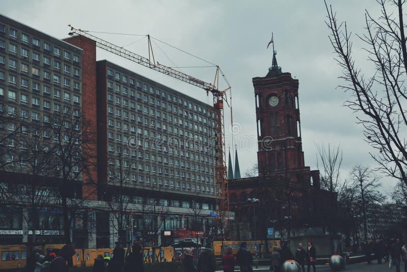In der Mitte von Berlin lizenzfreie stockbilder