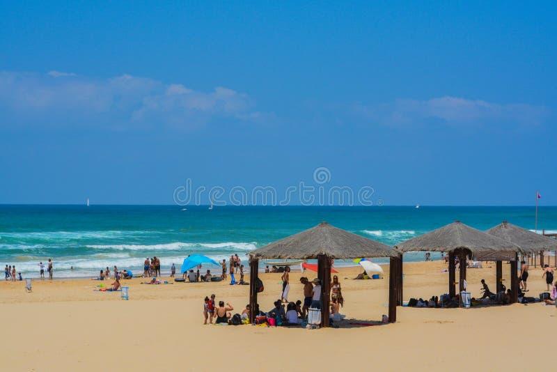 Der Mittelmeerstrand von Ashkelon in Ashkelon, Israel lizenzfreies stockfoto