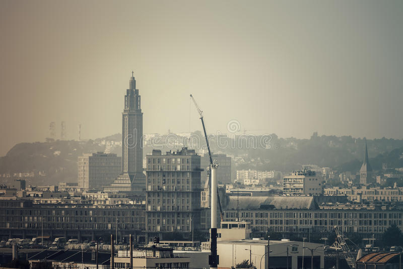 Der moderne Beton - Stadtarchitektur von Le Havre lizenzfreie stockfotos