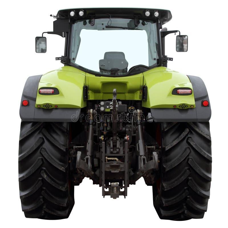 Der moderne grüne Traktor lokalisiert auf einem weißen Hintergrund lizenzfreies stockbild