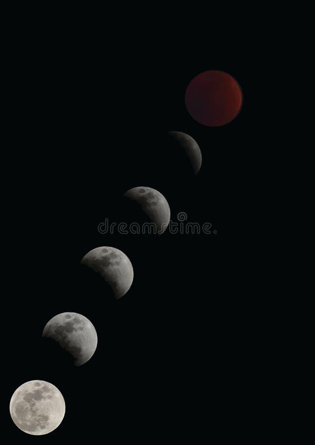 Der Mond herein am 31. Januar 2018 stockbilder