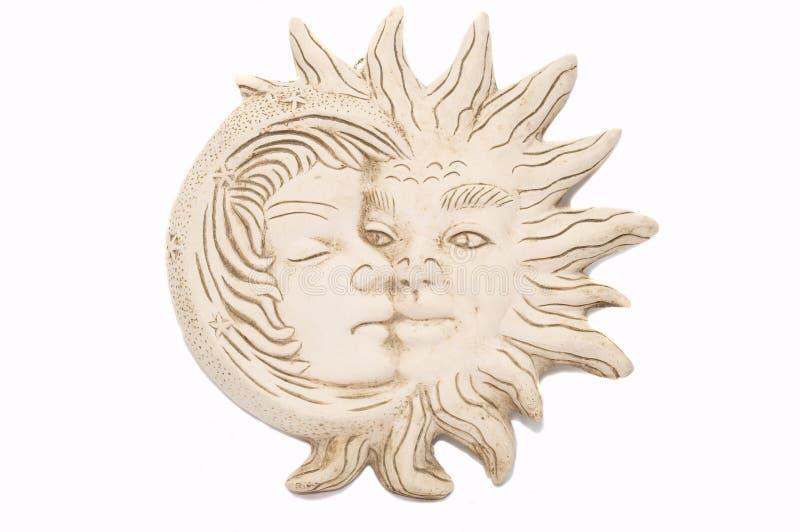 Der Mond und die Sonne stockbild