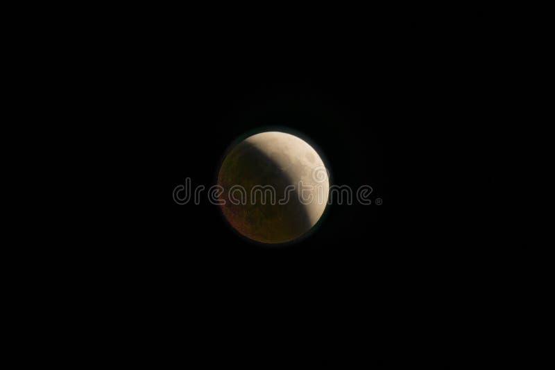 Der Mond während der Eklipse stockfotos