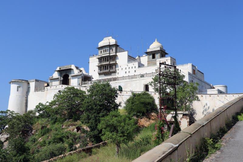 Der Monsun-Palast oder Palast Sajjan Garh, Udaipur, Rajasthan stockfotografie
