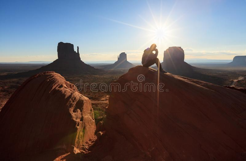 Der Monument-Tal-Stammes- Park, Arizona, USA stockfotografie