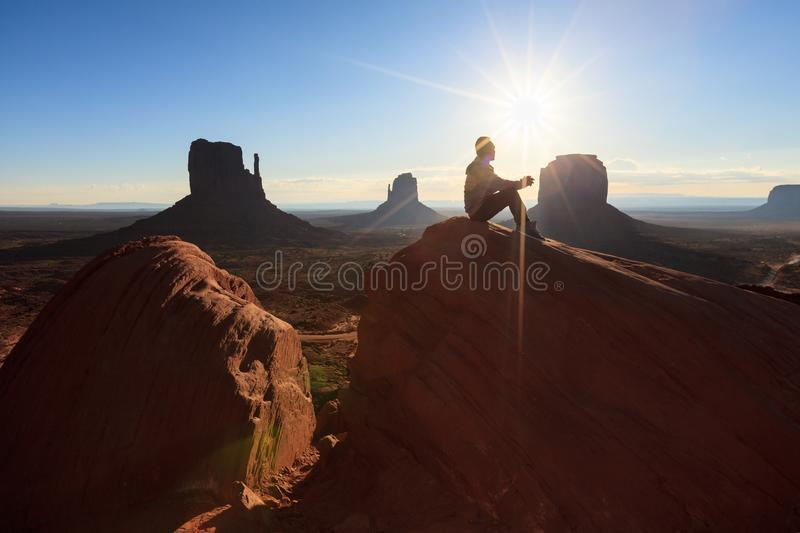 Der Monument-Tal-Stammes- Park, Arizona, USA stockbild