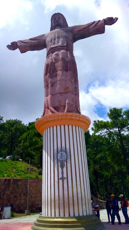 Der monumentale Christus von Taxco Guerrero in Mexiko stockfoto